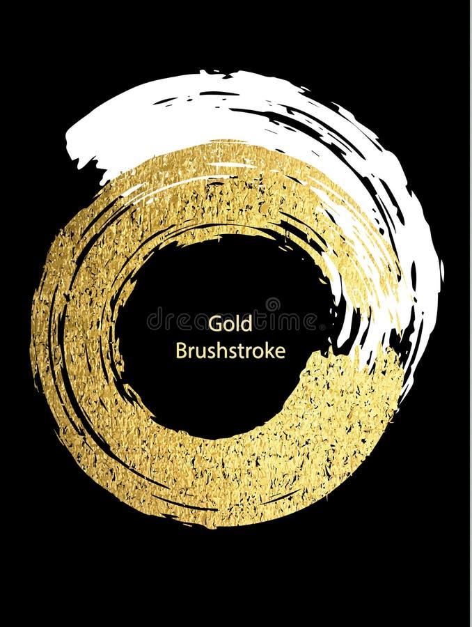 Белизна вектора и brushstroke золота Шаблоны дизайна для брошюры бесплатная иллюстрация