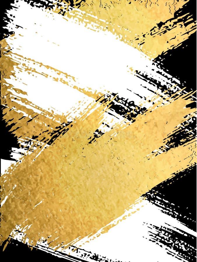 Белизна вектора и brushstroke золота Шаблоны дизайна для брошюры иллюстрация штока