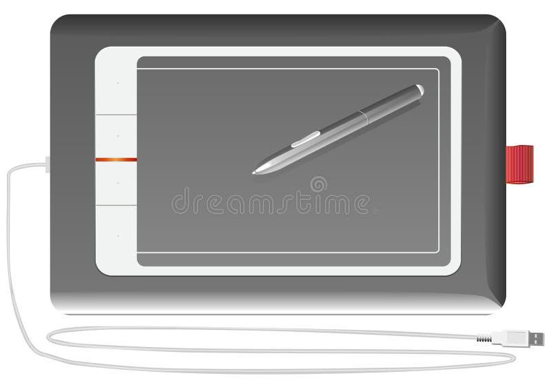 белизна вектора таблетки графиков предпосылки серебряная иллюстрация вектора