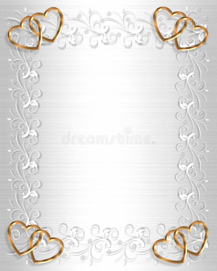 белизна венчания сатинировки приглашения граници иллюстрация штока