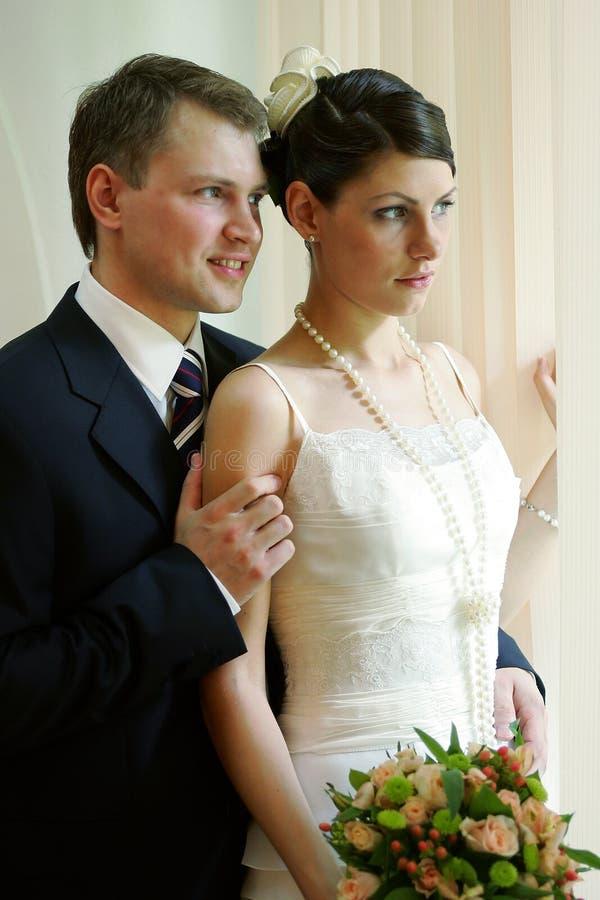 белизна венчания Groom невесты Стоковая Фотография RF