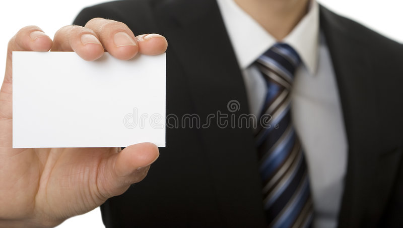 белизна визитной карточки стоковое фото