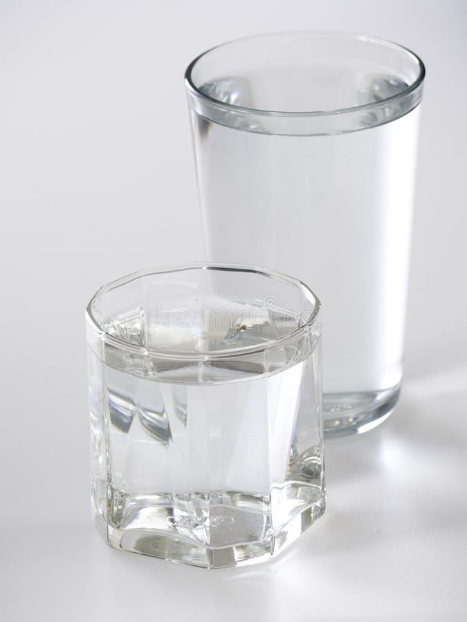 белизна воды предпосылки стеклянная стоковое изображение