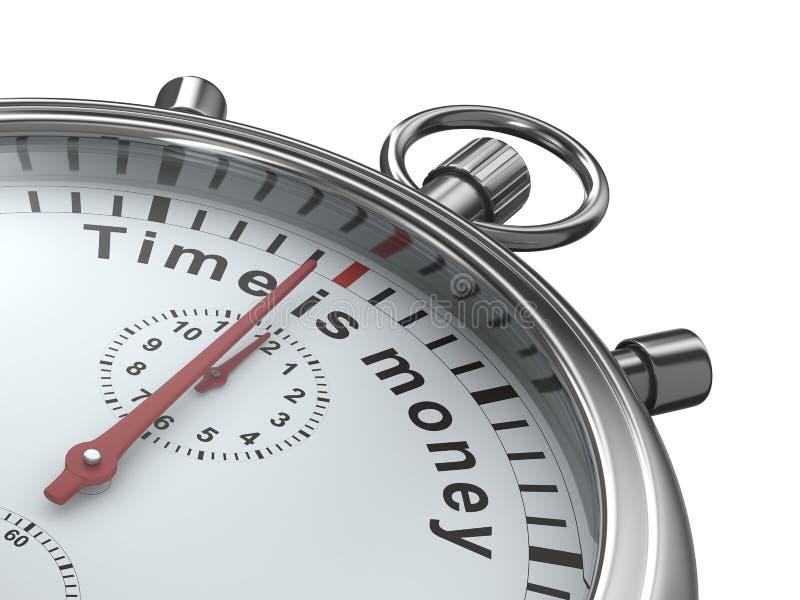 белизна времени секундомера дег предпосылки иллюстрация вектора