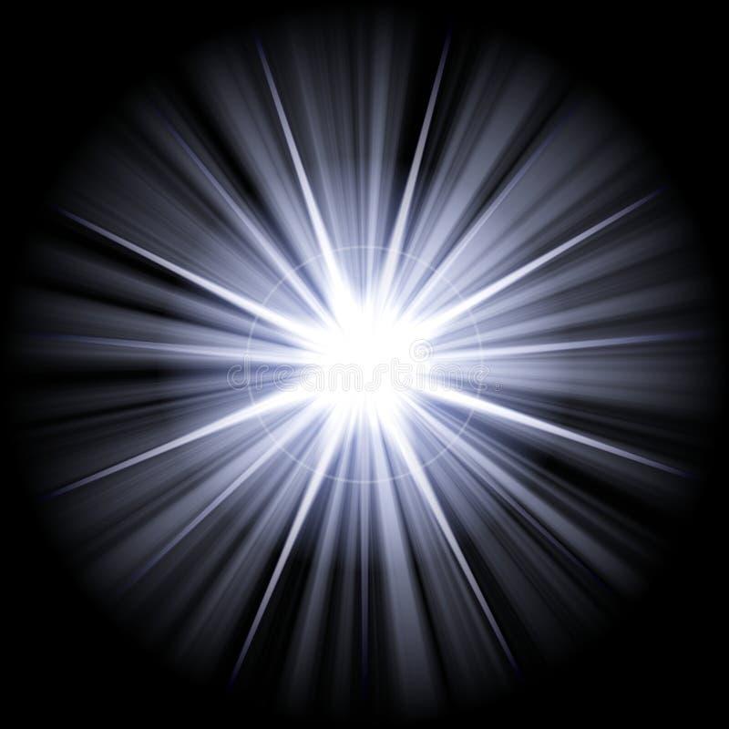 белизна голубой звезды иллюстрация вектора