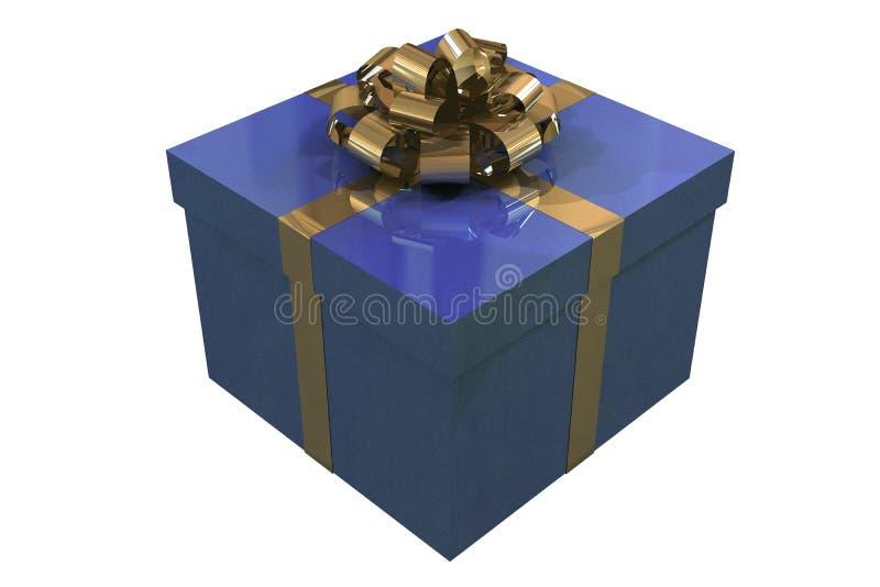 белизна голубой коробки предпосылки изолированная присутствующая бесплатная иллюстрация