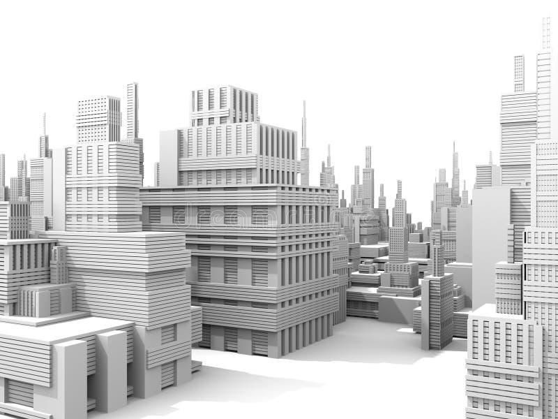 белизна города иллюстрация вектора