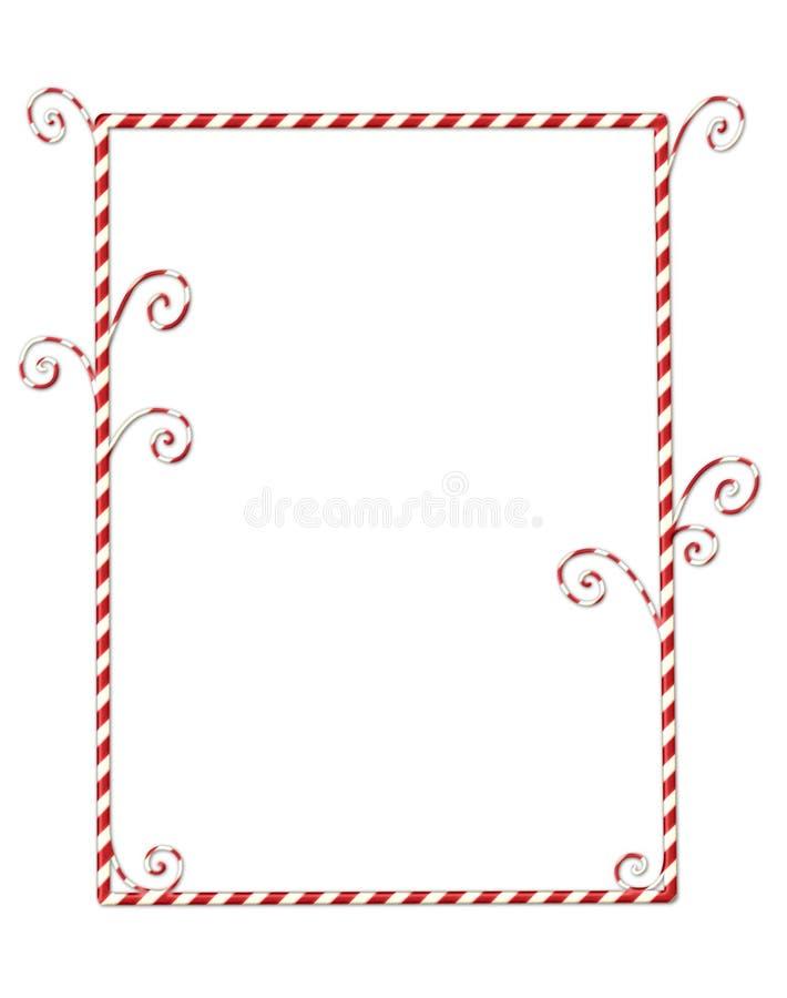 белизна граници изолированная candycane иллюстрация вектора