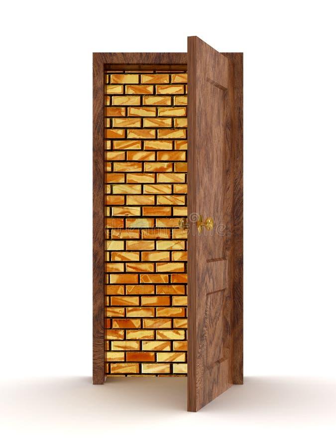 белизна двери предпосылки открытая иллюстрация штока