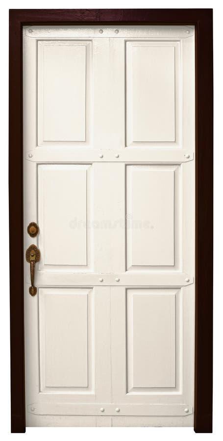 белизна двери предпосылки стоковое изображение
