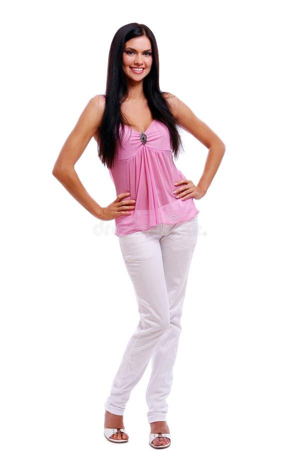 белизна девушки кофточки backgr сексуальная стоковое изображение