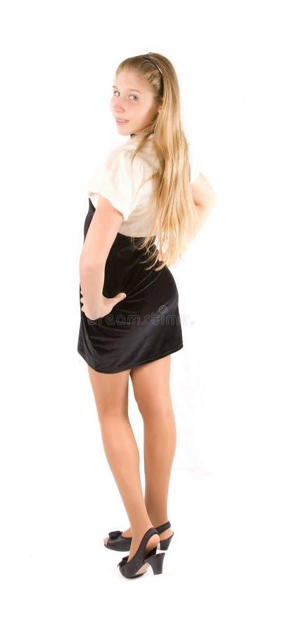 белизна девушки предпосылки стоковая фотография