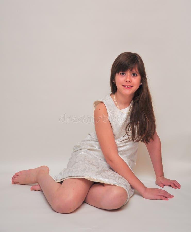 белизна девушки стоковое изображение