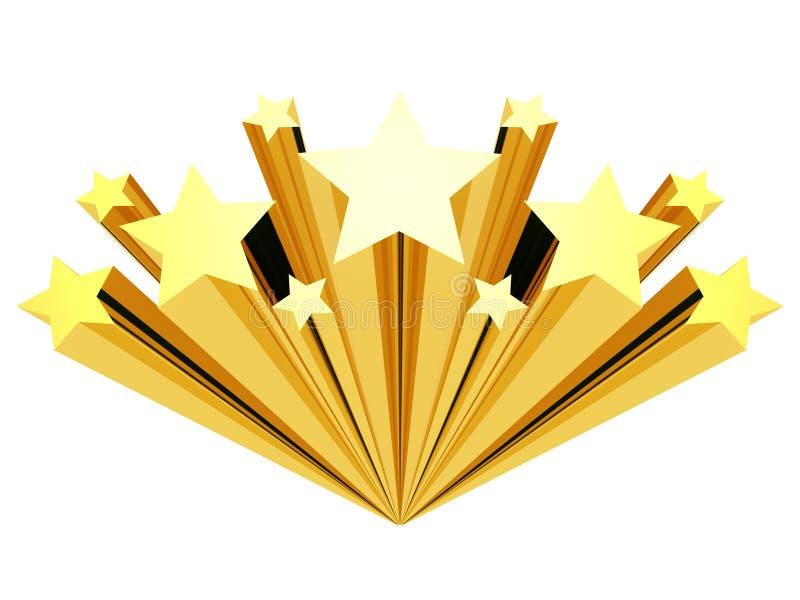 белизна звезды зажима искусства изолированная золотом стоковые изображения