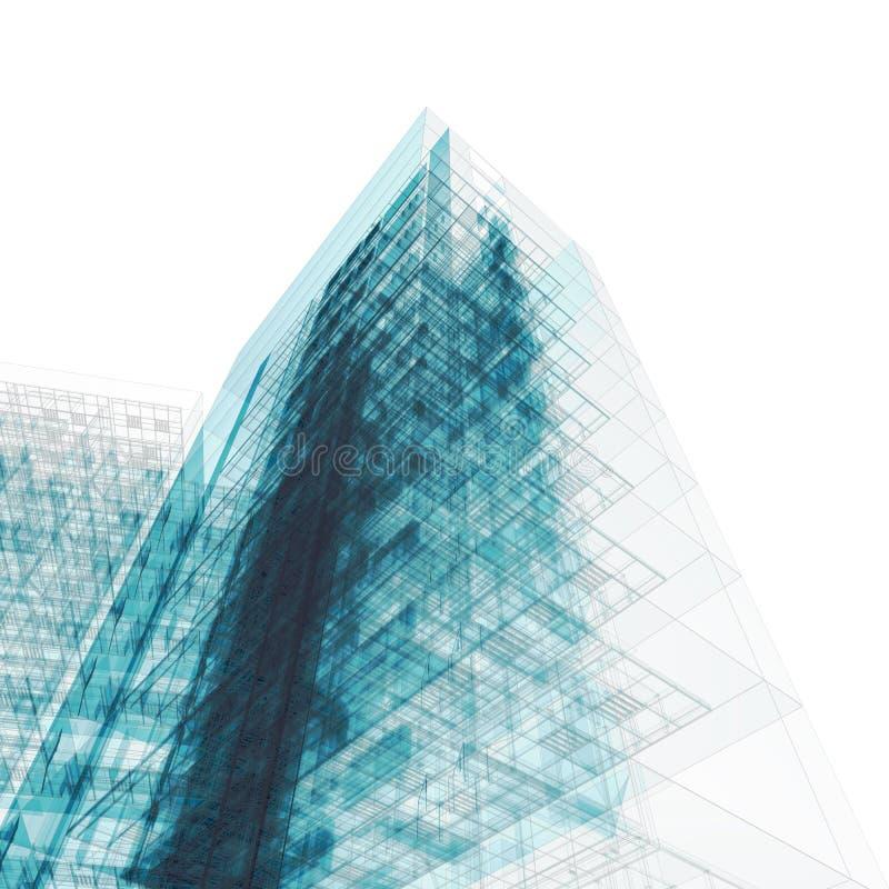белизна здания светокопии иллюстрация штока