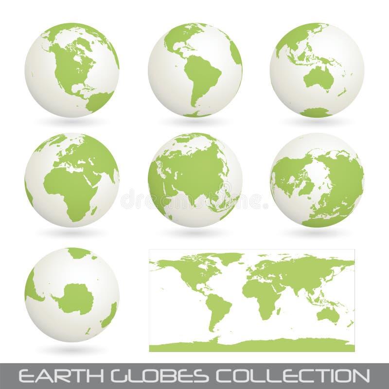 белизна зеленого цвета glob земли собрания
