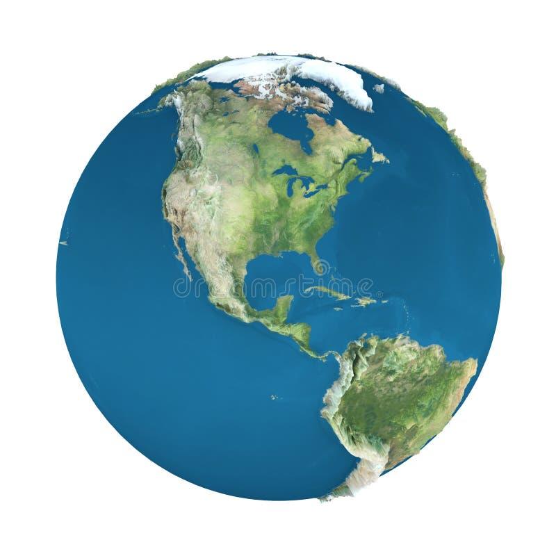 белизна земли изолированная глобусом бесплатная иллюстрация