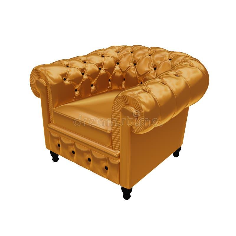 белизна золота локтя стула предпосылки стоковое фото rf