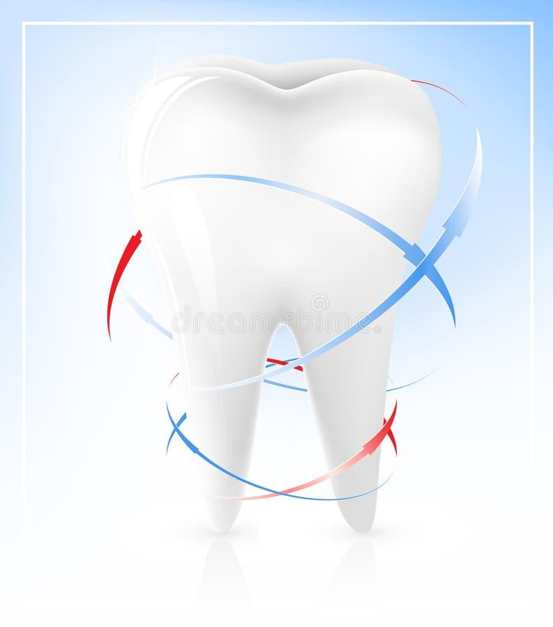 белизна зуба иллюстрация штока