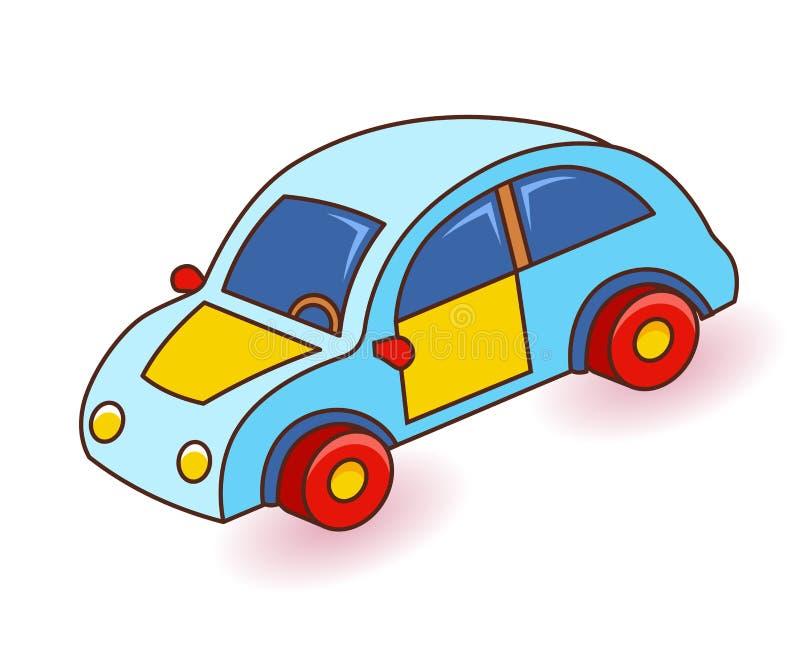 белизна игрушки предпосылки изолированная автомобилем alien кот шаржа избегает вектор крыши иллюстрации бесплатная иллюстрация