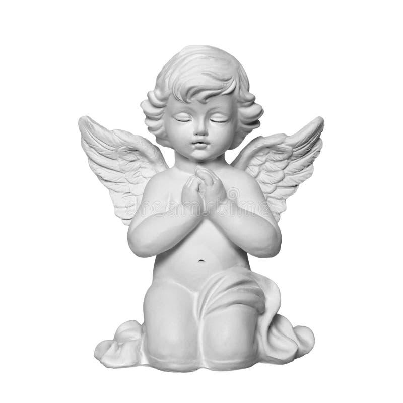 белизна изолированная ангелом стоковое изображение