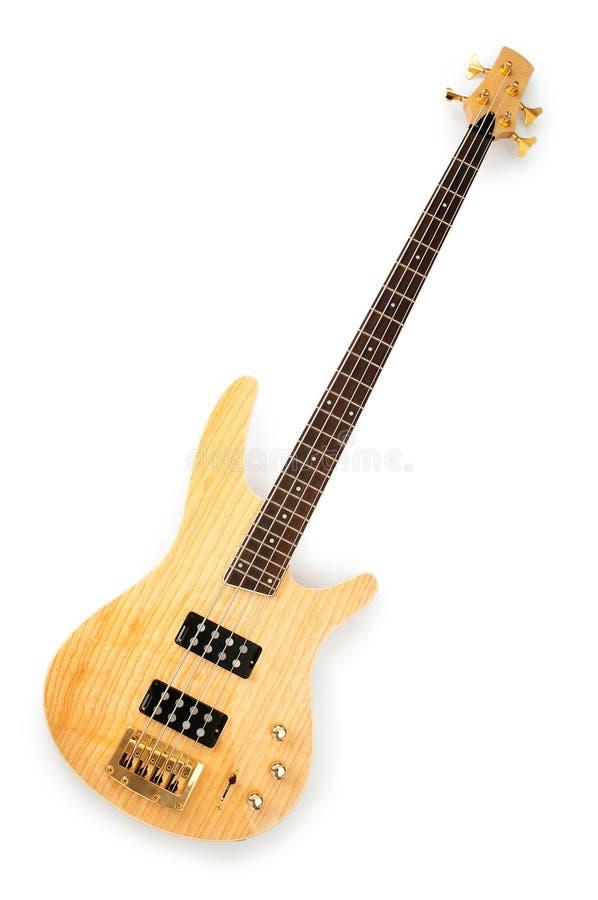 белизна изолированная гитарой музыкальная стоковые фото