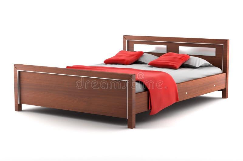 белизна изолированная кроватью иллюстрация вектора
