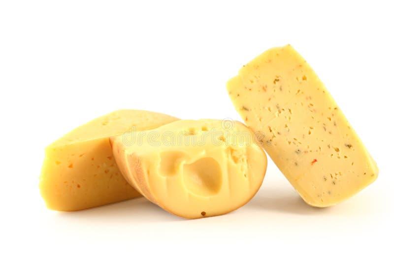белизна изолированная сыром стоковые изображения rf