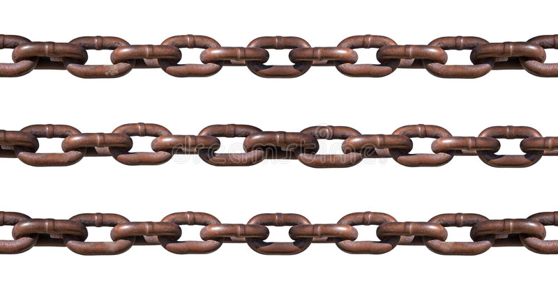 белизна изолированная цепью ржавая стоковые изображения rf
