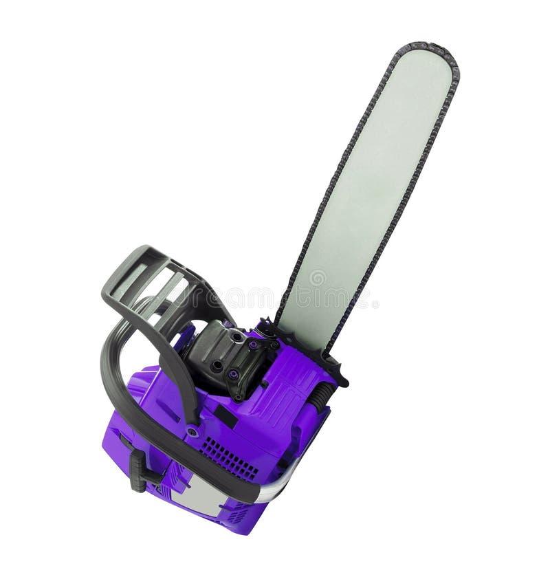 белизна изолированная chainsaw стоковая фотография