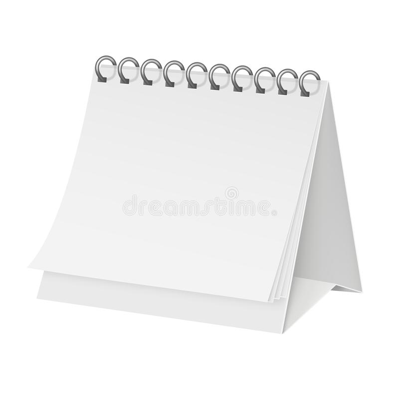 Белизна, календарь модель-макета для дизайна иллюстрация вектора