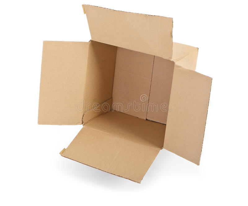 белизна картона коробки открытая стоковая фотография