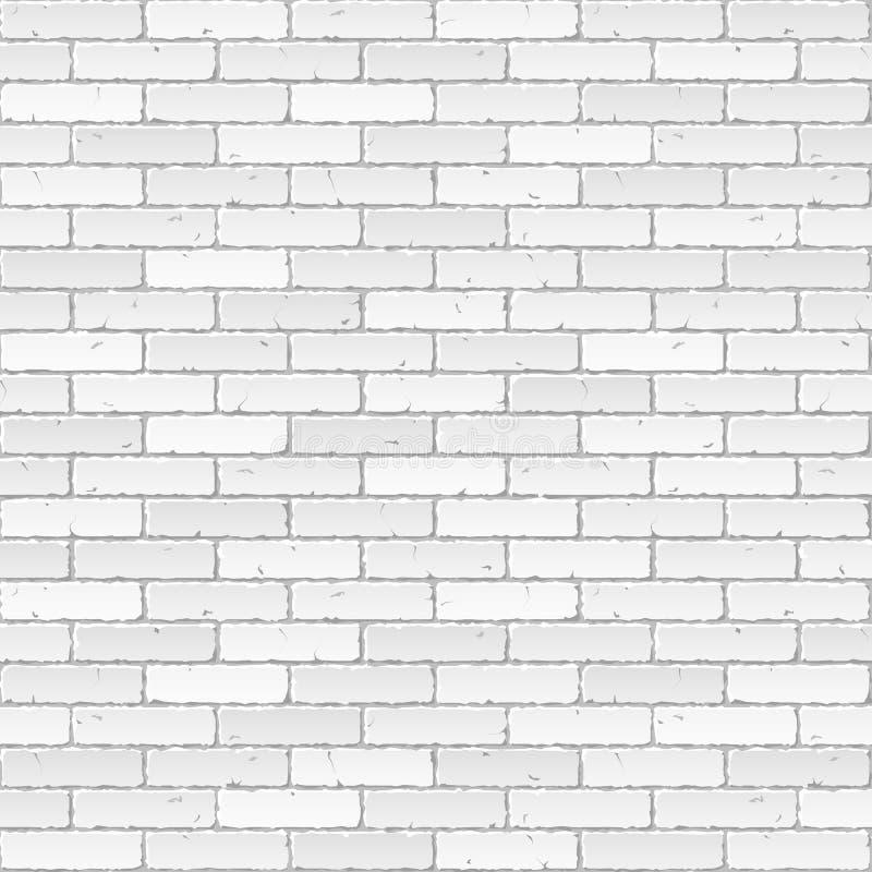 белизна кирпичной стены иллюстрация вектора