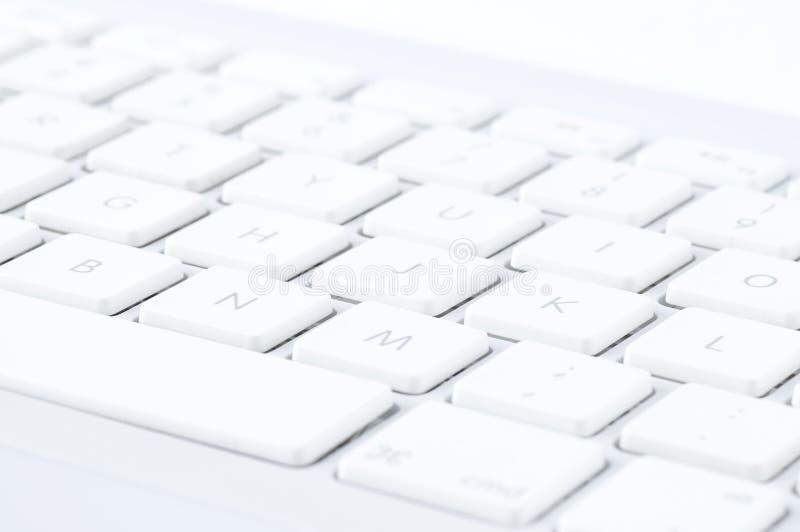 белизна клавиатуры стоковая фотография rf