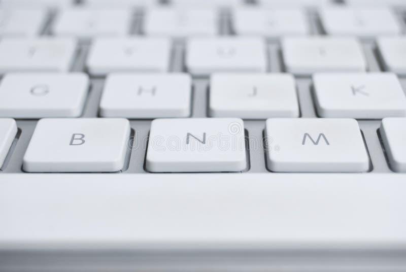 белизна клавиатуры стоковые фотографии rf