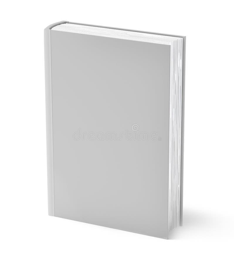 белизна книги изолированная серым цветом иллюстрация вектора