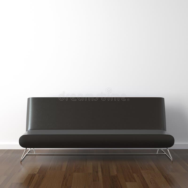 белизна кожи черного кресла стоковая фотография