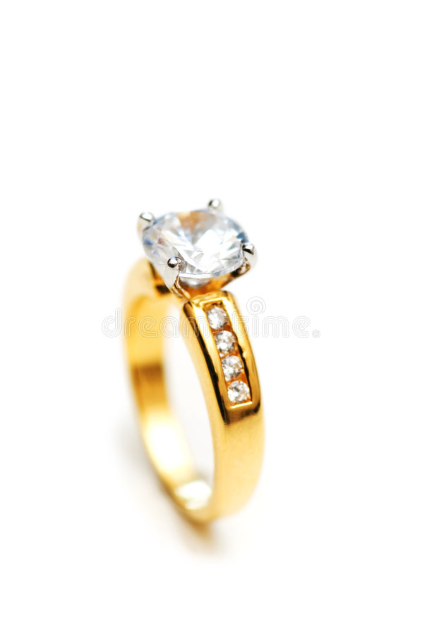 белизна кольца диаманта стоковое фото rf