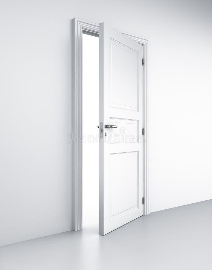 белизна комнаты двери иллюстрация вектора