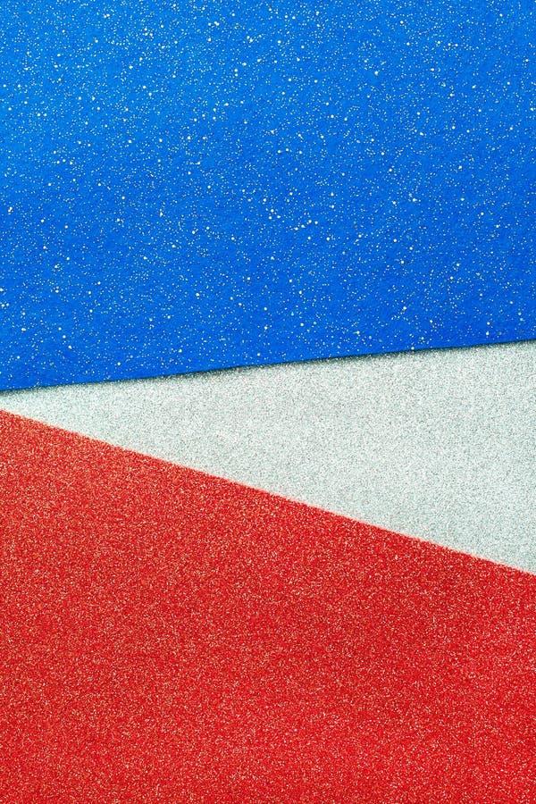 Белизна конспекта патриотическая красная и голубая предпосылка для торжеств, голосуя, мемориалы искры яркого блеска, День Труда стоковые фото
