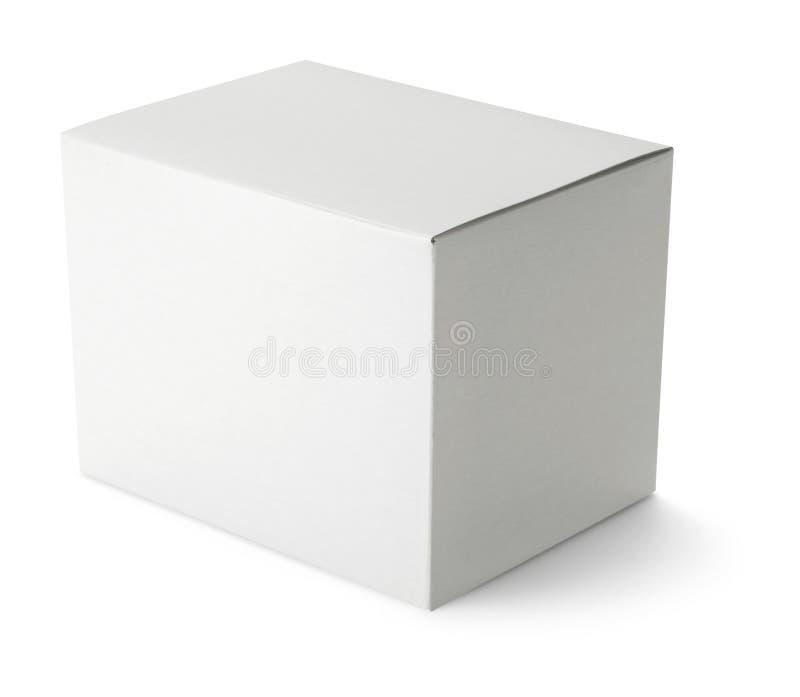 белизна коробки бумажная стоковое изображение rf