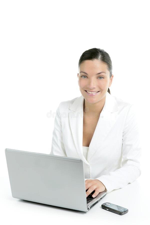 белизна костюма коммерсантки самомоднейшая стоковые фото