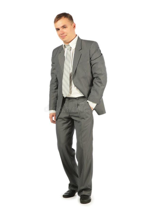 белизна костюма стойки бизнесмена стоковые фотографии rf