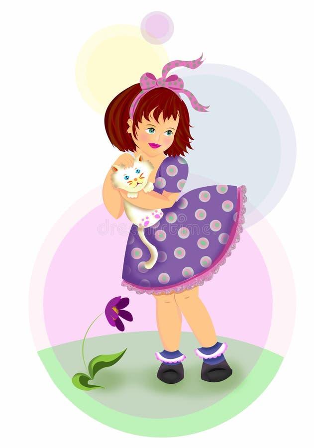 белизна котенка иллюстрация штока