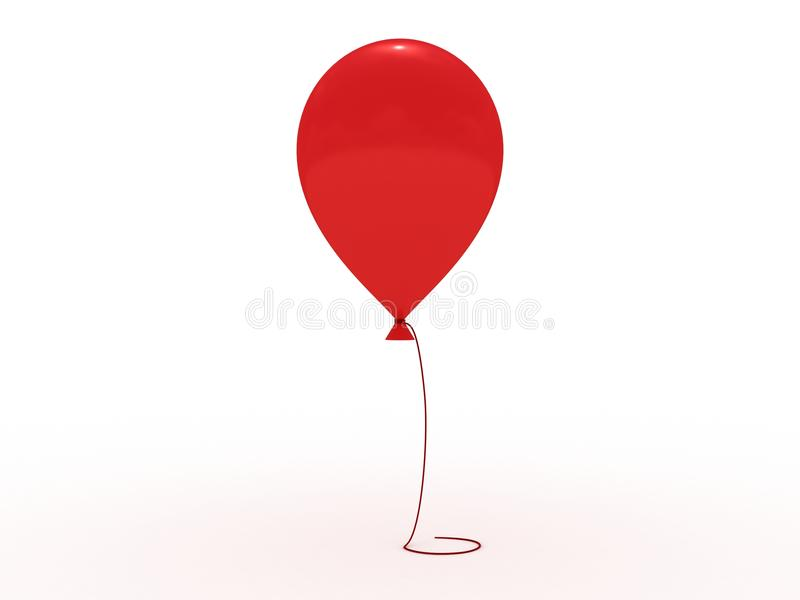 белизна красной веревочки baloon глянцеватая бесплатная иллюстрация