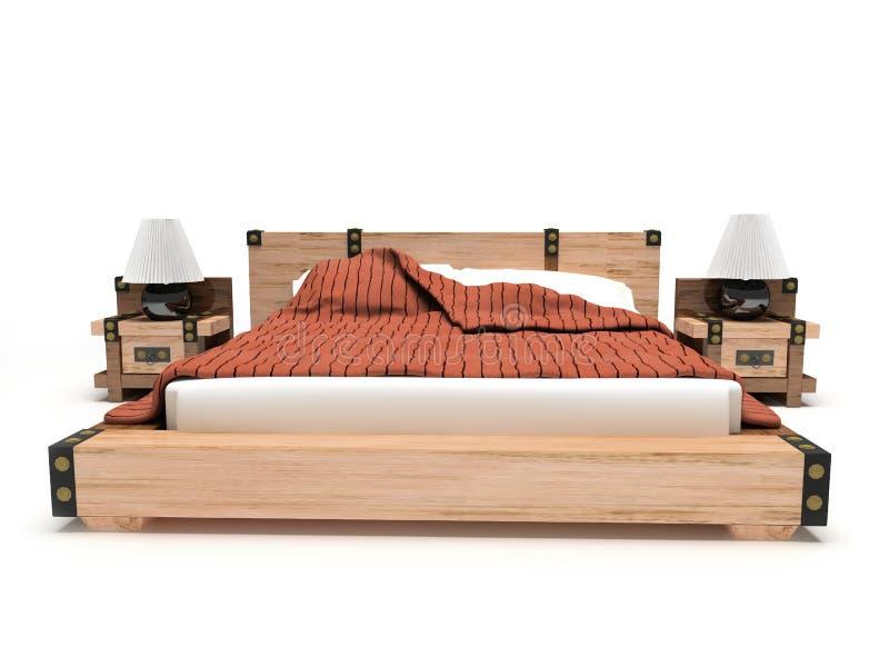 белизна кровати предпосылки стоковое изображение