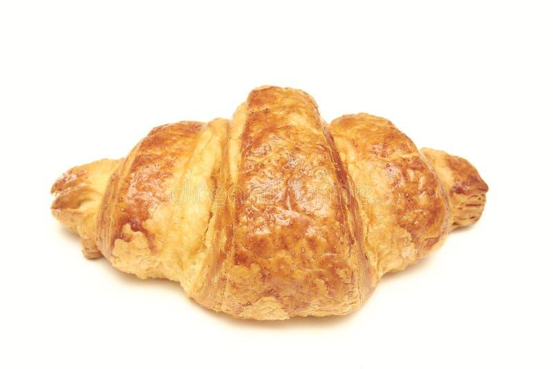 белизна круасанта предпосылки свежая хлебопекарня свежая Большой завтрак стоковое изображение