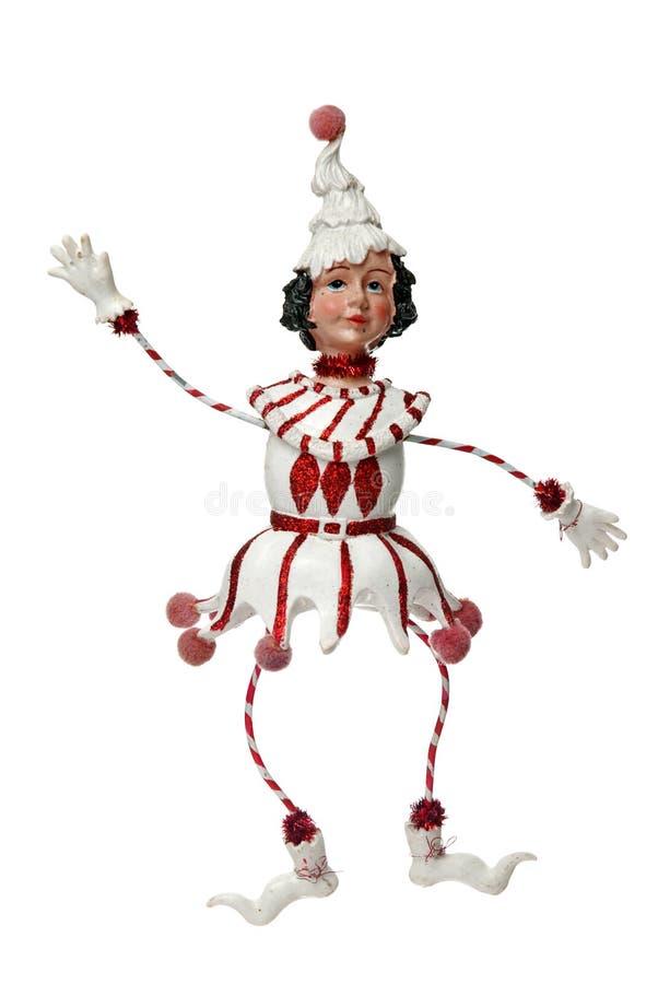 белизна куклы украшения рождества стоковое фото rf