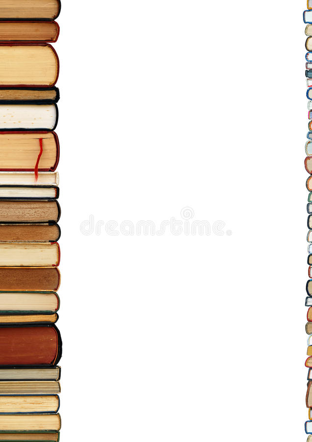 белизна кучи предпосылки изолированная книгами стоковые изображения rf