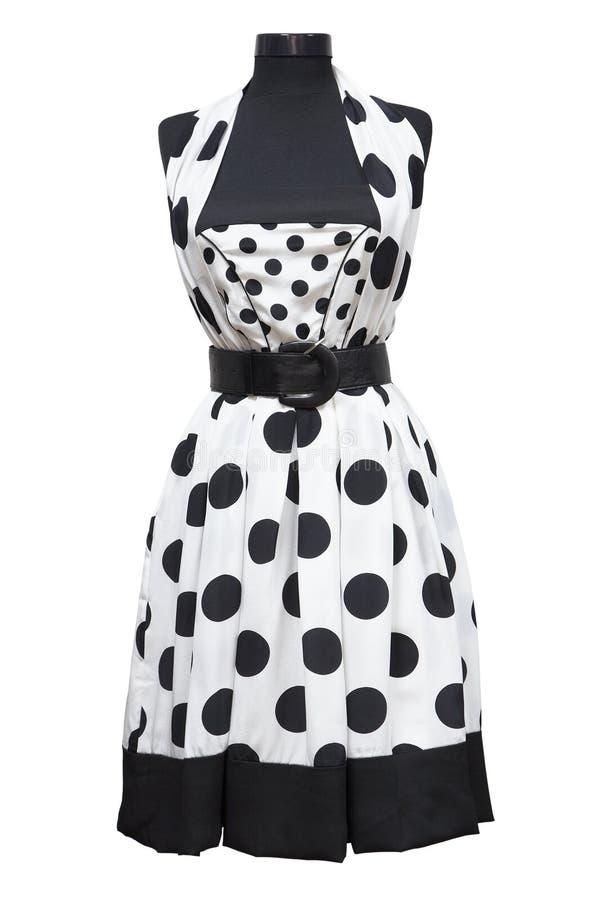 белизна лета платья стоковая фотография rf